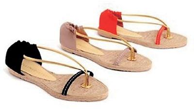 夏日必备缤纷亮色平底凉鞋